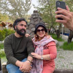 عکس جدید بهاره رهنما و همسرش در ویلای لواسان!