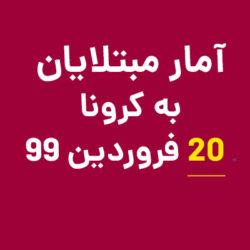 اعلام آمار مبتلایان کرونا ۲۰ فروردین ۹۹ ایران و جهان