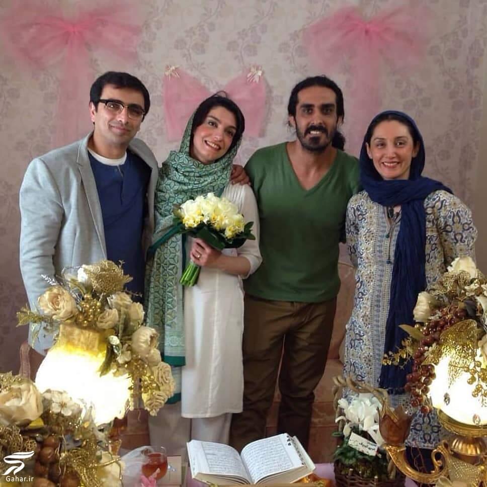 عکس دیده نشده از مراسم عقد امین زندگانی و الیکا عبدالرزاقی با حضور هدیه تهرانی, جدید 1400 -گهر