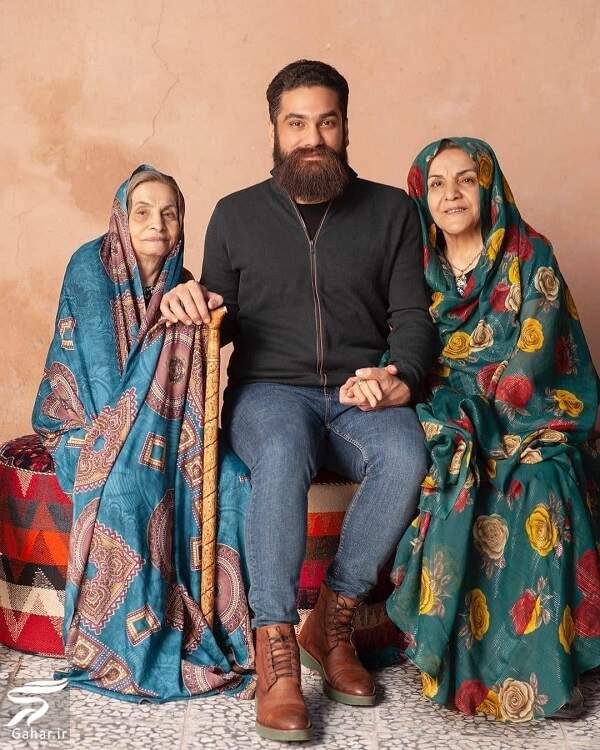 عکس دیدنی علی زند وکیلی در کنار مادر و مادربزرگش, جدید 1400 -گهر