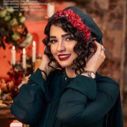 استایل یلدایی سیما خضرآبادی و همسرش / تصاویر