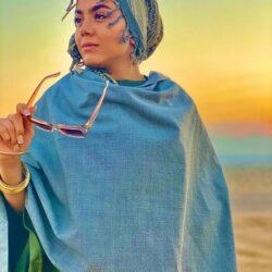 عکسهای جدید و متفاوت آزاده زارعی بازیگر آوای باران