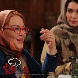 فیلم دعوای شدید بهاره رهنما و فلور نظری در شام ایرانی
