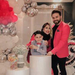 بابک جهانبخش به همراه همسرش در جشن تولد پسرش / ۶ عکس