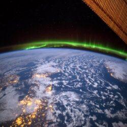 تصاویر خارق العاده پدیده شفق قطبی از فضا